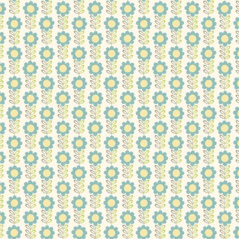 DAISY CHAIN GREEN / TURQUOISE